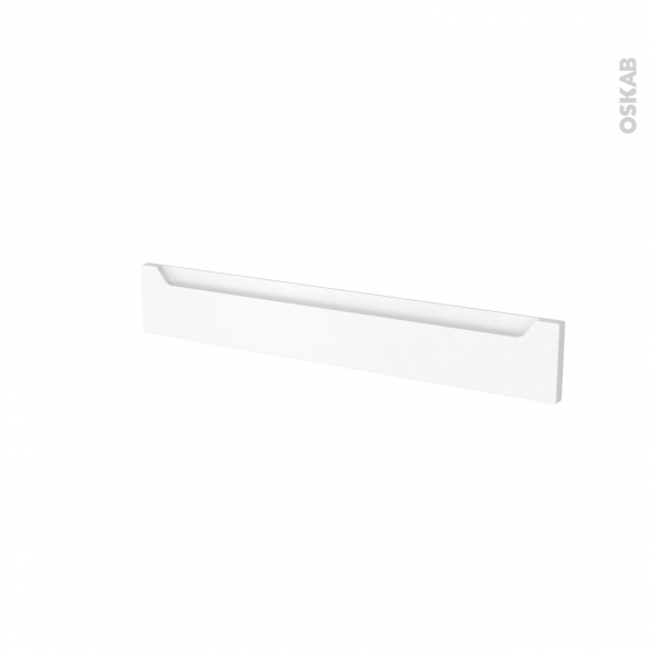Façades de cuisine - Face tiroir N°42 - PIMA Blanc - L80 x H13 cm