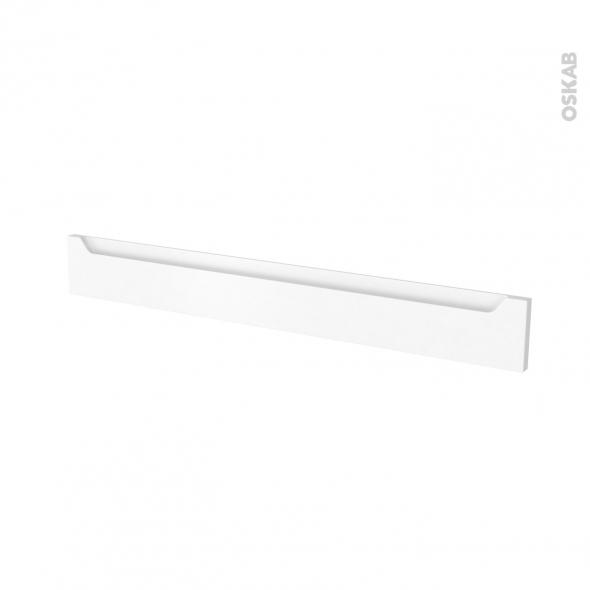 Façades de cuisine - Face tiroir N°43 - PIMA Blanc - L100 x H13 cm