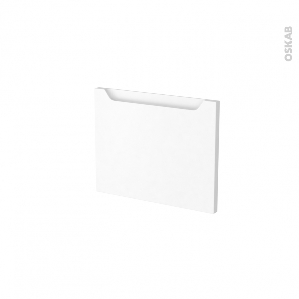 Façades de cuisine - Face tiroir N°6 - PIMA Blanc - L40 x H31 cm