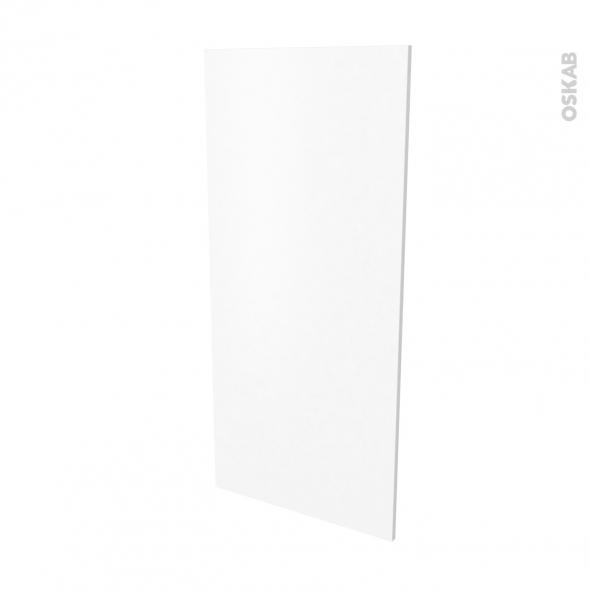 Finition cuisine - Joue N°33 - PIMA Blanc - Avec sachet de fixation - L58.4 x H125 x Ep.1.6 cm