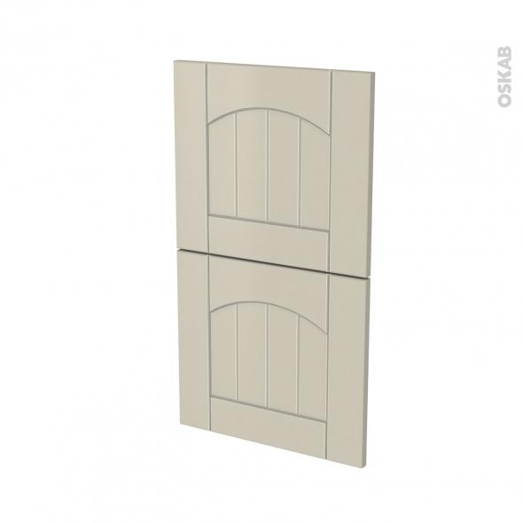 SILEN Argile - façade N°52  2 tiroirs - L40xH70