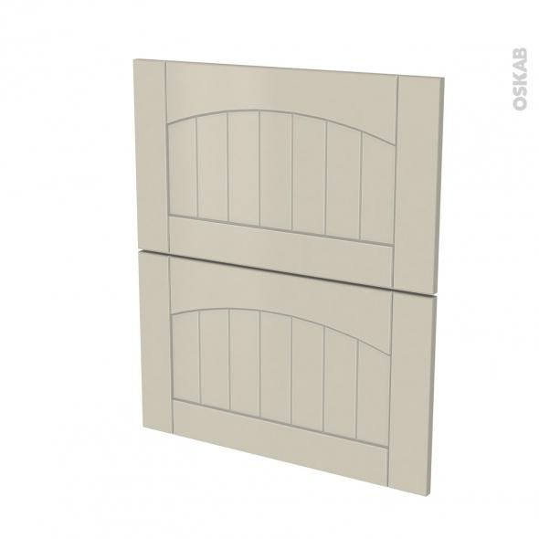 SILEN Argile - façade N°57 2 tiroirs - L60xH70