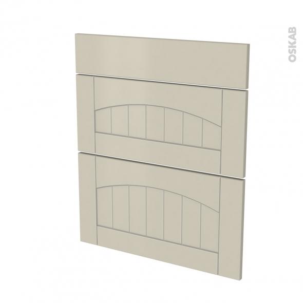 SILEN Argile - façade N°58 3 tiroirs - L60xH70
