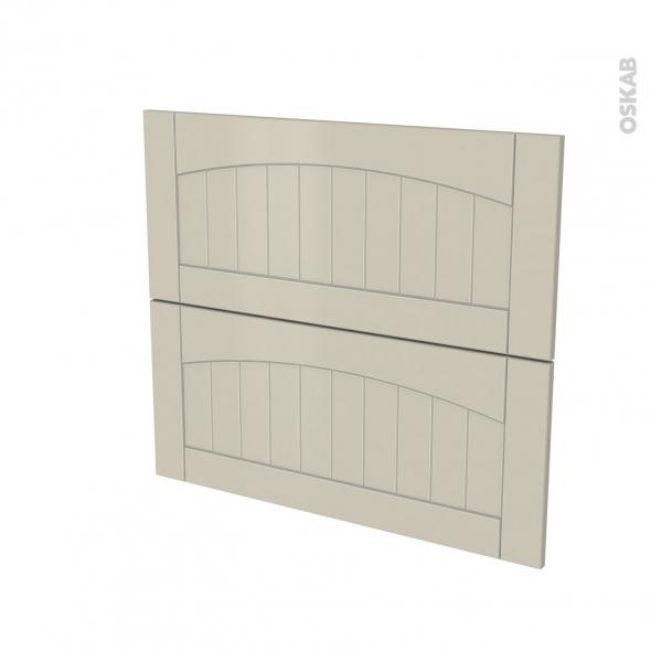 SILEN Argile - façade N°60 2 tiroirs - L80xH70