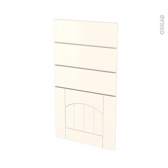 SILEN Ivoire - façade N°53 4 tiroirs - L40xH70