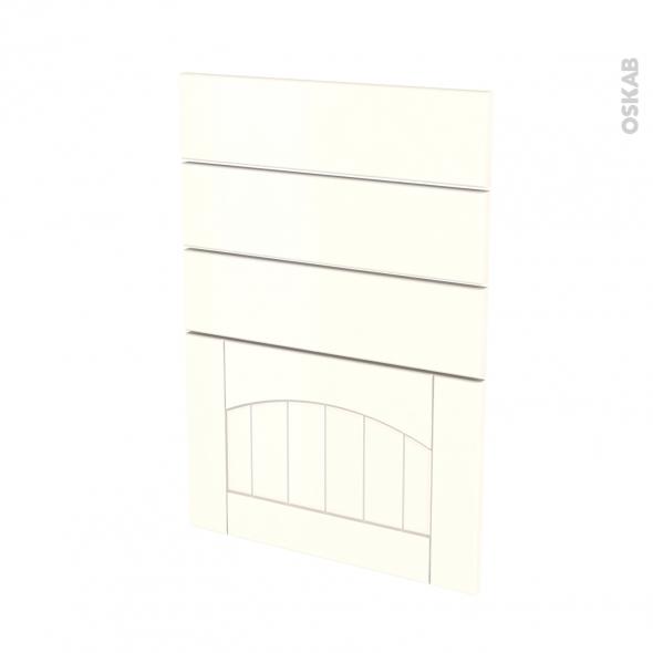 SILEN Ivoire - façade N°55 4 tiroirs - L50xH70