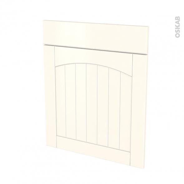SILEN Ivoire - façade N°56 1 porte 1 tiroir - L60xH70 - gauche