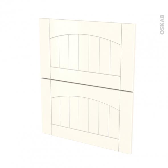 SILEN Ivoire - façade N°57 2 tiroirs - L60xH70