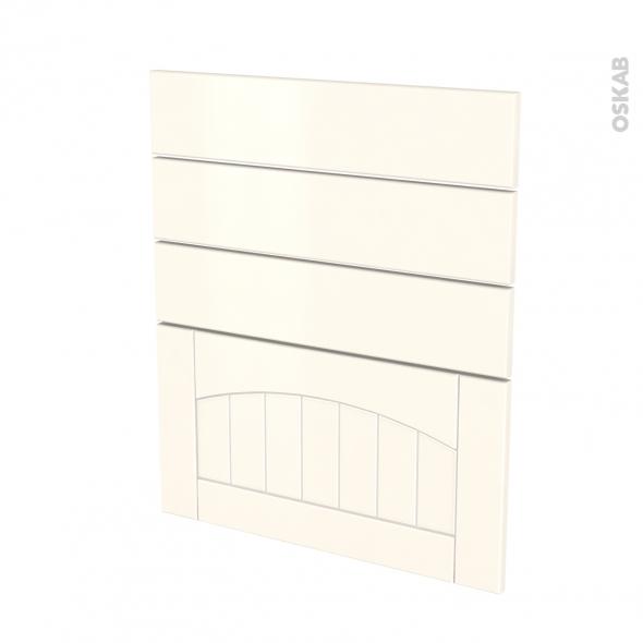SILEN Ivoire - façade N°59 4 tiroirs - L60xH70