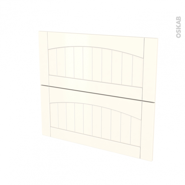 SILEN Ivoire - façade N°60 2 tiroirs - L80xH70