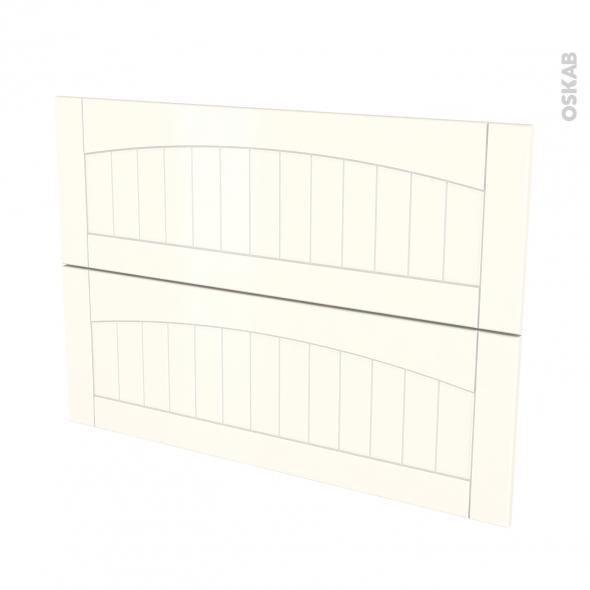 SILEN Ivoire - façade N°61 2 tiroirs - L100xH70