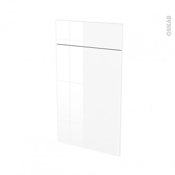 Façades de cuisine - 1 porte 1 tiroir N°51 - STECIA Blanc - L40 x H70 cm