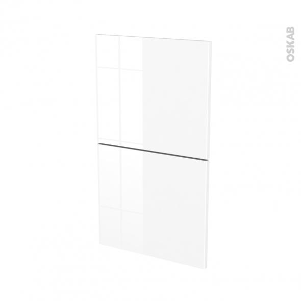 Façades de cuisine - 2 tiroirs N°52 - STECIA Blanc - L40 x H70 cm