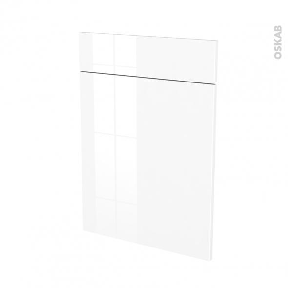 STECIA Blanc - façade N°54 1 porte 1 tiroir - L50xH70