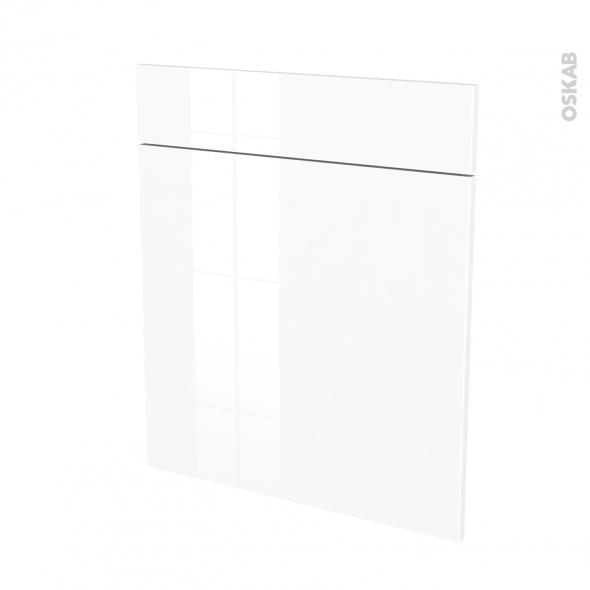 STECIA Blanc - façade N°56 1 porte 1 tiroir - L60xH70