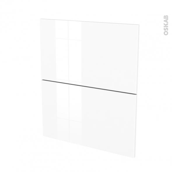 STECIA Blanc - façade N°57 2 tiroirs - L60xH70