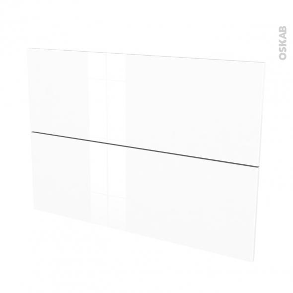 Façades de cuisine - 2 tiroirs N°61 - STECIA Blanc - L100 x H70 cm