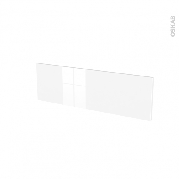 Façades de cuisine - Face tiroir N°39 - STECIA Blanc - L80 x H25 cm