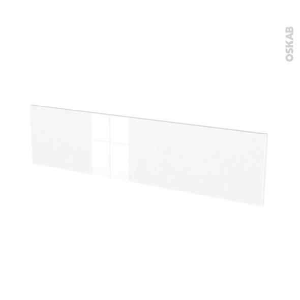 Façades de cuisine - Face tiroir N°41 - STECIA Blanc - L100 x H25 cm