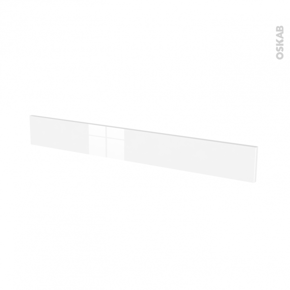 Façades de cuisine - Face tiroir N°43 - GINKO Blanc - L100 x H13 cm