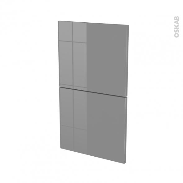 Façades de cuisine - 2 tiroirs N°52 - STECIA Gris - L40 x H70 cm