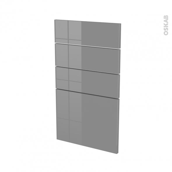 Façades de cuisine - 4 tiroirs N°53 - STECIA Gris - L40 x H70 cm