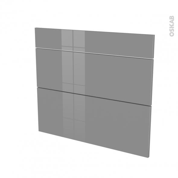 STECIA Gris - façade N°74 3 tiroirs - L80xH70