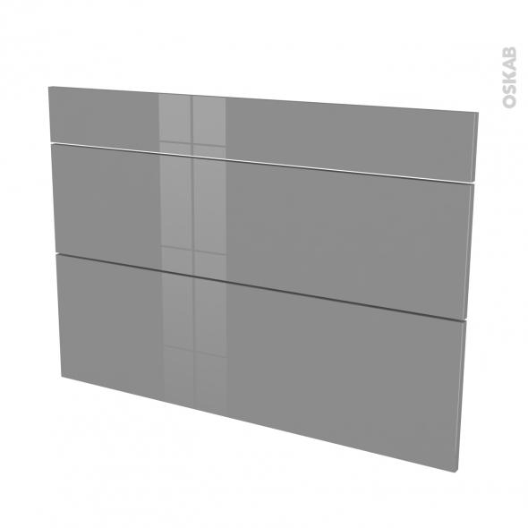 STECIA Gris - façade N°75 3 tiroirs - L100xH70