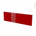 Façades de cuisine - Face tiroir N°40 - STECIA Rouge - L100 x H31 cm