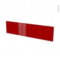 Façades de cuisine - Face tiroir N°41 - STECIA Rouge - L100 x H25 cm