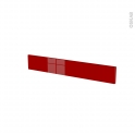 Façades de cuisine - Face tiroir N°42 - STECIA Rouge - L80 x H13 cm