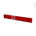 Façades de cuisine - Face tiroir N°43 - STECIA Rouge - L100 x H13 cm