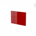 Façades de cuisine - Face tiroir N°6 - STECIA Rouge - L40 x H31 cm