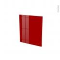 Façades de cuisine - Porte N°15 - STECIA Rouge - L50 x H57 cm