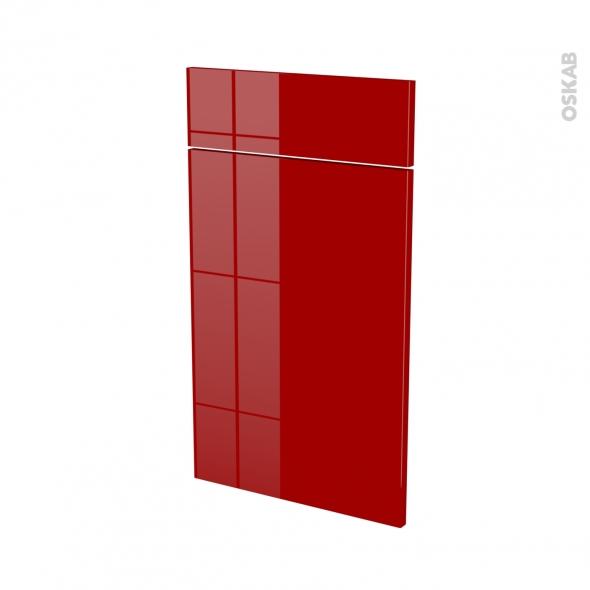 Façades de cuisine - 1 porte 1 tiroir N°51 - STECIA Rouge - L40 x H70 cm