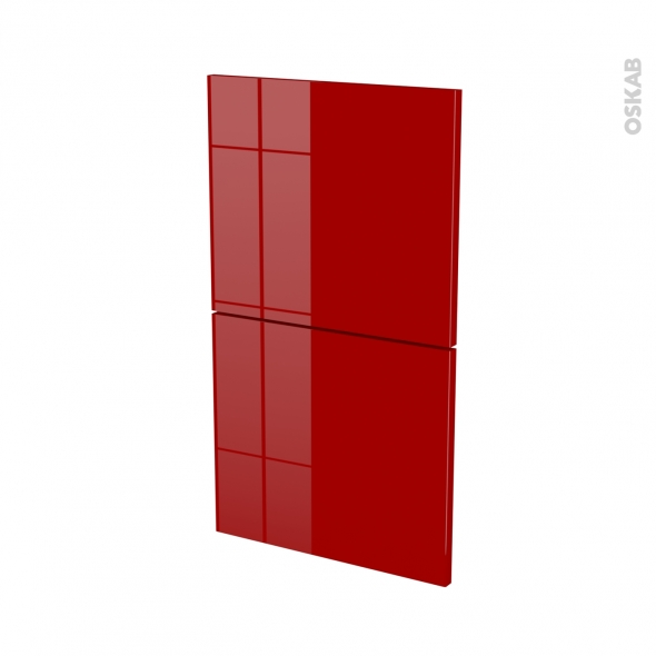 Façades de cuisine - 2 tiroirs N°52 - STECIA Rouge - L40 x H70 cm