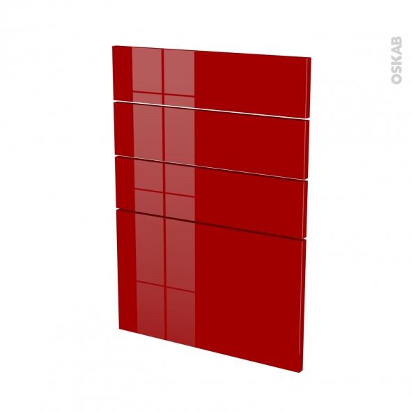 STECIA Rouge - façade N°55 4 tiroirs - L50xH70