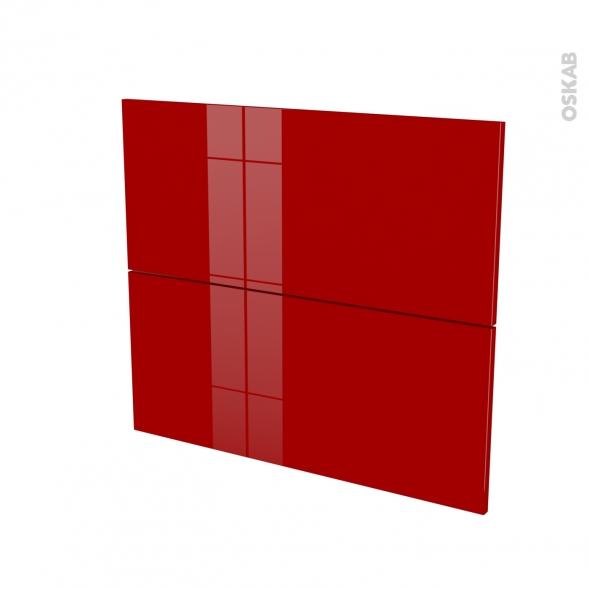 Façades de cuisine - 2 tiroirs N°60 - STECIA Rouge - L80 x H70 cm