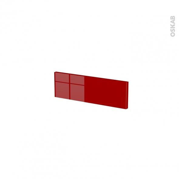 Façades de cuisine - Face tiroir N°1 - STECIA Rouge - L40 x H13 cm