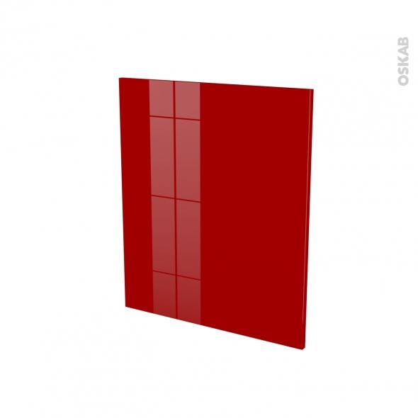 Porte lave vaiselle - Full intégrable N°21 - STECIA Rouge - L60 x H70 cm