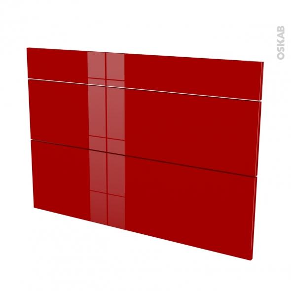 Façades de cuisine - 3 tiroirs N°75 - STECIA Rouge - L100 x H70 cm