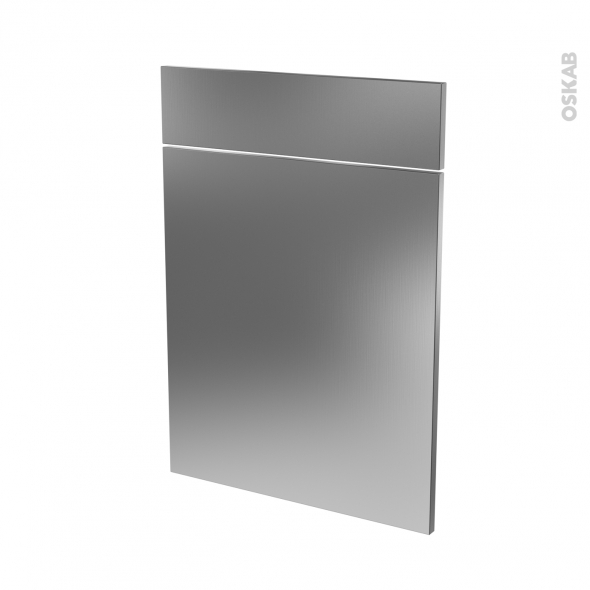 STILO Inox - façade N°54 1 porte 1 tiroir - L50xH70