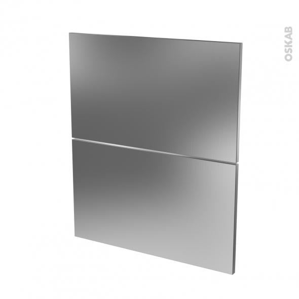 STILO Inox - façade N°57 2 tiroirs - L60xH70