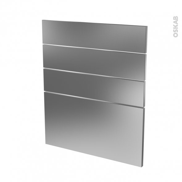 STILO Inox - façade N°59 4 tiroirs - L60xH70