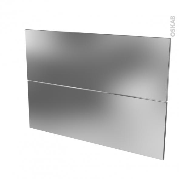 STILO Inox - façade N°61 2 tiroirs - L100xH70