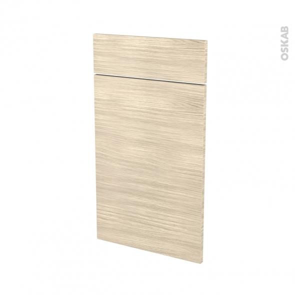 Façades de cuisine - 1 porte 1 tiroir N°51 - STILO Noyer Blanchi - L40 x H70 cm