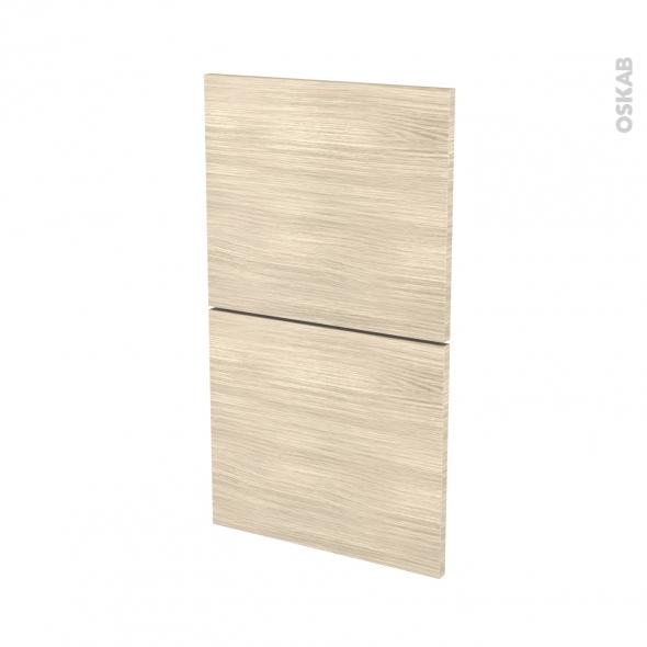 STILO Noyer Blanchi - façade N°52  2 tiroirs - L40xH70