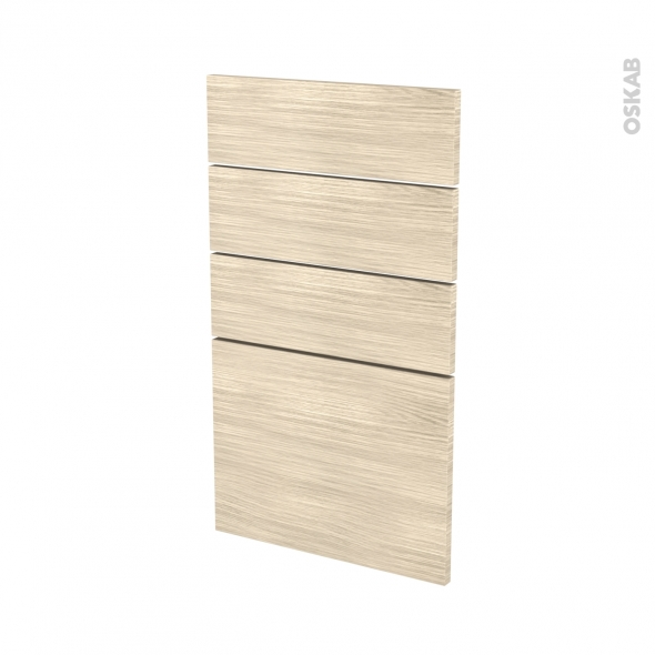 Façades de cuisine - 4 tiroirs N°53 - STILO Noyer Blanchi - L40 x H70 cm