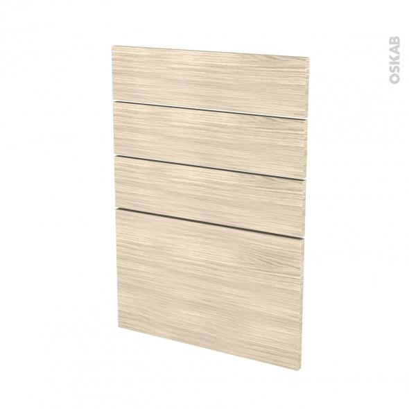 Façades de cuisine - 4 tiroirs N°55 - STILO Noyer Blanchi - L50 x H70 cm