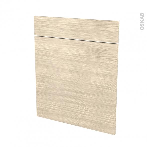 STILO Noyer Blanchi - façade N°56 1 porte 1 tiroir - L60xH70